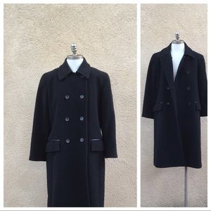 Cole Haan Wool/Cashmere/Leather Trim Coat 10